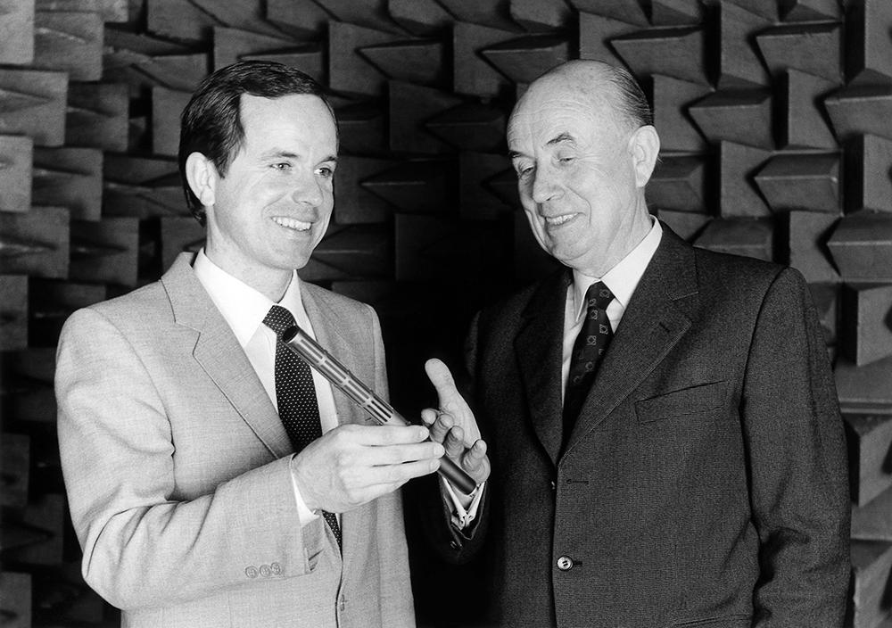 Fritz and Joerg Sennheiser 1982